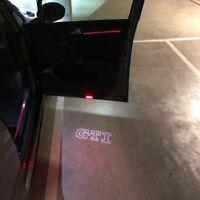 GTI LED Door Light Welcome Step Courtesy Logo HD Projector For GOLF MK5 MK6 MK7