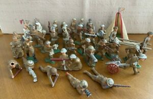 Antique Vintage Barclay Manoil Lead Soldiers WWI Lot of 37 + Tent