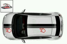 FIAT 500 Rallye Autocollants Autocollant toit + capot (Set)