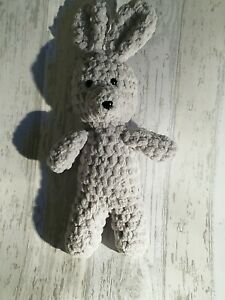 Handmade crochet bunny rabbit grey
