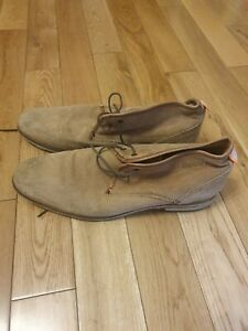 MENS SUPERDRY SIZE 12 SUEDE LACE UP SHOES
