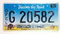 North Dakota 1983 Old License Plate Official Vehicle Garage Man Cave Car Tag Vtg