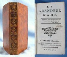 La GRANDEUR d'ÂME / Marquis CARACCIOLI / E.O. Bassompierre & Vanden Berghen 1761
