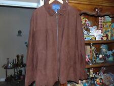 Mint  Vintage Faconnable Reddish  Brown Suede Leather Jacket Coat XL $1298 TT