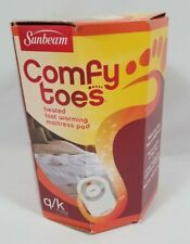 Sunbeam Comfy Toes Heated Foot Warming Mattress Pad, Queen / King FREE SHIP