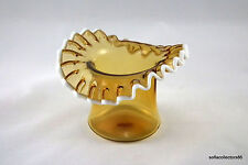 Fenton Rarity - #1923 Amber Snow Crest Top Hat - Smooth Treatment - 1951 - 1952