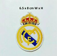 Real Madrid Football Sports Embroidered Iron on Sew On Patch Badge Jacket Jeans
