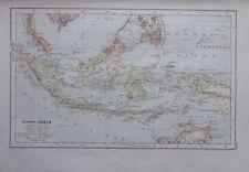 Karte aus 1889 - Sunda Inseln - alte Landkarte old map