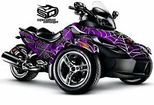 "Can Am Spyder RS RSS GS graphic wrap decal kit ""Black Widow"""