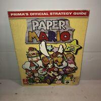 PAPER MARIO Nintendo 64 N64 - Prima Official Strategy Guide RPG Walkthrough