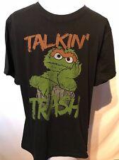 Sesame Street TALKIN TRASH Licensed Adult T-Shirt Size Medium