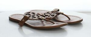 46-70 MSRP $198 Women's Size 7M Tory Burch Miller Brown Leather Sandals