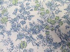 RALPH LAUREN 100% Cotton Cottage Ivory Blue Green Floral Sheet Set - Cal King