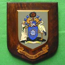 Vintage Royal Society of Health University College School Crest Shield Plaque z