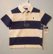Gestreifte Jungen-Poloshirts aus 100% Baumwolle