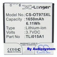 BATTERIA 1650mAh PER ALCATEL ONE TOUCH OT991 TLi015A Vodafone 975 SMART 3 Li-Ion