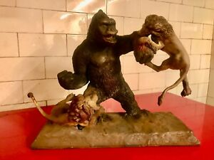 Mighty Joe Young Diorama Fighting the Lions Resin Model Kit