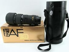 Beautiful Nikon ED IF Nikkor 300mm 1:4 Camera Lens w/Case & Box