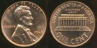United States, 1963 One Cent, Lincoln Memorial - Proof