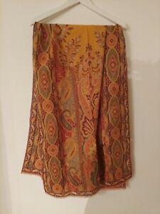 Etro silk/wool woven Paisley print rectangular scarf