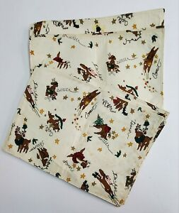 Christmas Reindeer placemat holiday set of 8 with napkins cloth names set