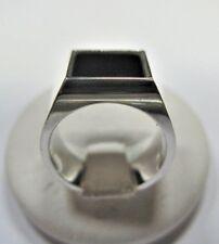 anello mignolo uomo con onice quadrata in argento 925 lavorazione artigiana