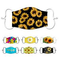 Stylish Sunflower Unisex Reusable Anti Haze PM2.5 Face Mouth Cover Mask Muffle