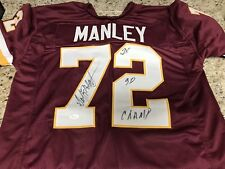 Redskins Dexter Manley Signed Auto Custom Jersey w/Inscription JSA Witness