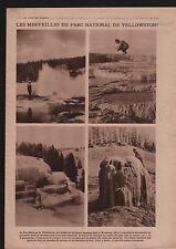 Geyser Yellowstone National Park Wyoming Idaho & Montana USA 1919 ILLUSTRATION