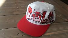"RARE Vintage 90's NBA Chicago Bulls ""Graffiti"" Snapback Hat"