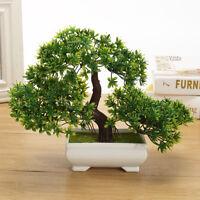 albero bonsai in quadrato Pentola - ARTIFICIALE PIANTA DECORAZIONE PER UFFICIO /