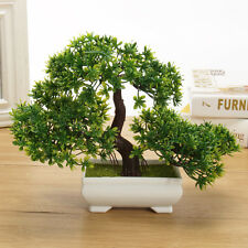 Bonsai Tree In Square Pot   Artificial Plant Decoration For Office/Home 18cm