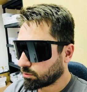 Sunglasses Women Mens Oversize Huge Visor Big Shield Mask Half Face Large Mirror