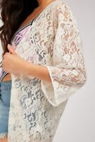 Ladies BRANDED Floral Lace Kimono Cardigan Throw-Over UK Sizes 10 12 14 16 18