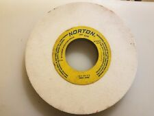 "Norton 10"" Wheel x 3"" Hole x 3/4"" Thick white ALuminum Oxide Grinding Wheel"