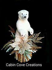 Christmas Floral Arrangement Polar Bear Centerpiece Winter Wonderland Woodland