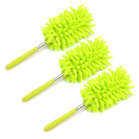 Evelyne 3-Piece Home Cleaning Microfiber Bendable Extendable Duster - Green