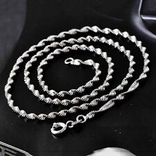 Chain Necklace White Gold Filled 17inches necklace Silver Filled Water Wave