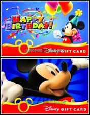 2x DISNEY HAPPY BIRTHDAY MAGIC KINGDOM PARTY MICKEY COLLECTIBLE GIFT CARD LOT