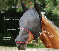 Field Relief MAX full face Fly mask Detachable nose. 80%25 UV protection.2 colours
