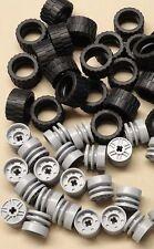 ☀️NEW! x40 NEW LEGO Technic NXT Wheels TIRES RIMS 24 x 14 Light Bluish Gray