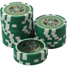 25 Pokerchips 13g Clay (Ton) Wert 25 grün Metallkern Ultimate Poker Laser