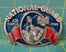National Guard / Air Force / Army Enameled and Brass Belt Buckle