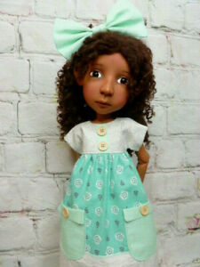 """4pc Outfit for Connie Lowe 20"""" Big Stella, Meili and Hazel Doll Dress, Bloomers"""