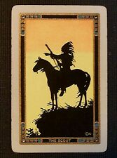 """The Scout"" Indigenous Indian/Horse Silhouette-VTG Narrow Name Swap Playing Card"