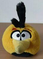 "Angry Birds WITH SOUND 5"" Plush Yellow Orange Bubbles Bird Rovio"