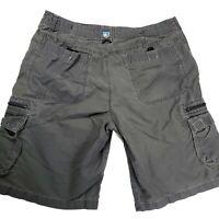 Kuhl Men's XL Hiking Outdoor Cargo Shorts Green Cotton Blend Pockets Fishing