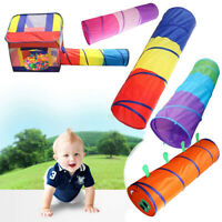 Children Baby Foldable Crawling Tunnel Crawl Tube Outdoor Indoor Game Play Toys