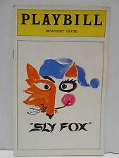Larry Gelbart Jack Gilford Gretchen Wyler Sly Fox 1977 Playbill