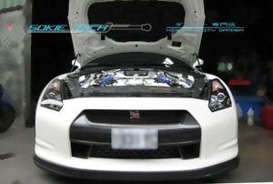 Silver Carbon Strut Lift Hood Shock Damper Kit for Nissan Skyline GT-R GTR R35